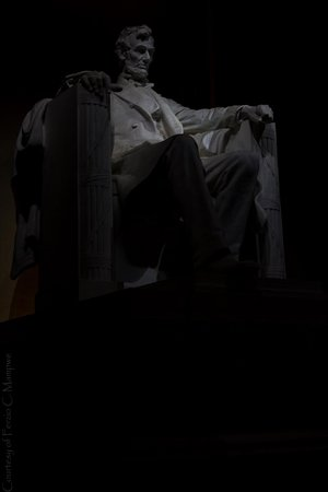 Lincoln Memorial: President Lincoln in his seat.