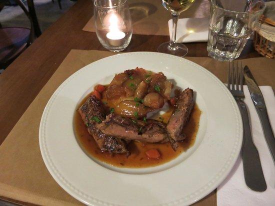 Restaurant Bouche en Folie : Lamb with onion tart