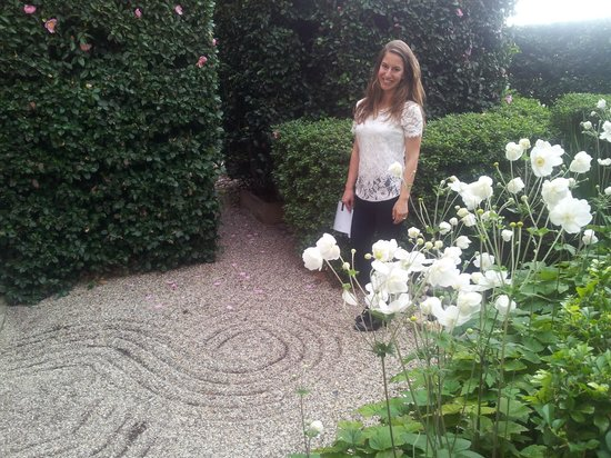 The Como Melbourne - MGallery by Sofitel: Our daughter in the Japanese garden onto which her suite opened