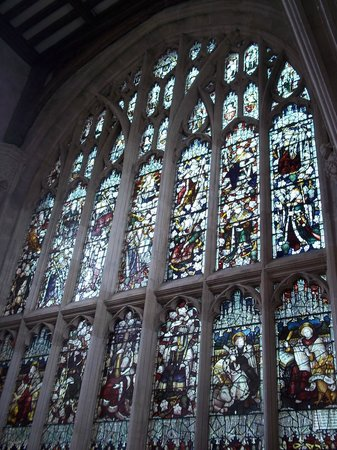 University Church of St. Mary the Virgin: the glasses at the back