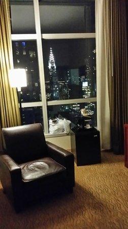Millennium Hotel Broadway: Photo prise du bureau, de nuit