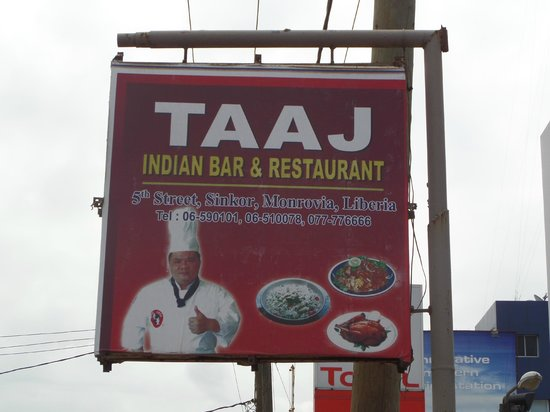 Taaj Indian Restaurant : Street Sign for Taaj