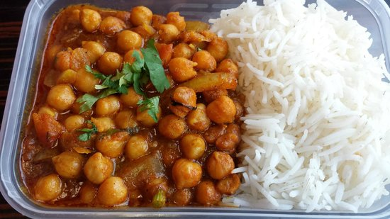 Lily's Vegetarian Indian Restaurant: Delicious Channa Masala & Plain Rice