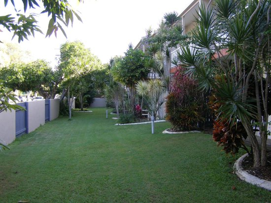 Noosa Keys Resort: Back garden area