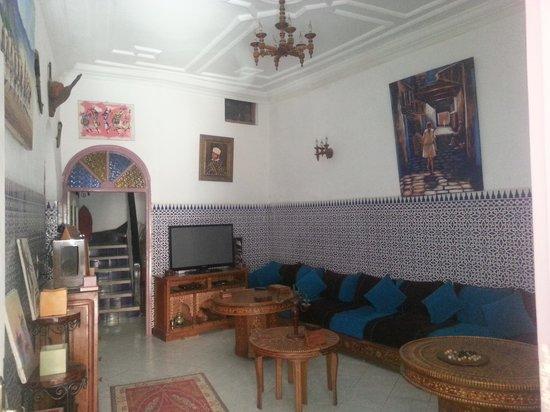 Hotel Gnaoua: salon gnaoua