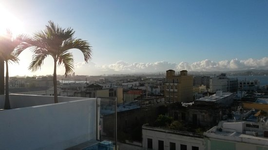 La Terraza de San Juan: View from the rooftop terrace at La Terraza