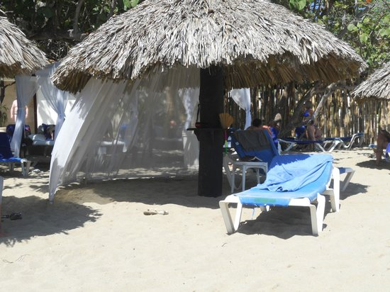 BlueBay Villas Doradas Adults Only : The beach palapas, you had to be there by 6:00 am to get one