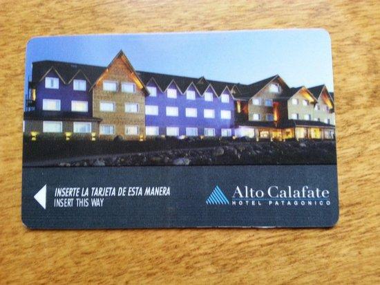 Alto Calafate Hotel Patagonico: Tarjeta de acceso