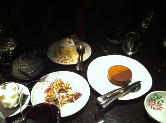 Spice Temple: selection of desserts
