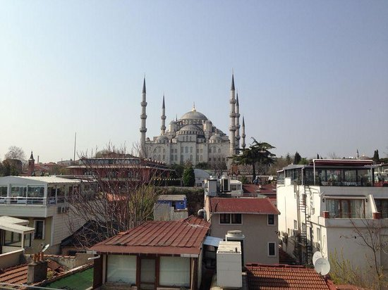 Ferman Hotel: view from the breakfast room