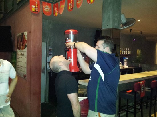 Score Sports Bar & Grill Phnom Penh: Finishing off a great night with one last drink