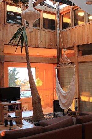 Natural Surf Lodge: living, con bosca!