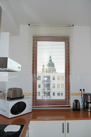 7Seasons Apartments Budapest: little kitchen but fully equimpent and view !