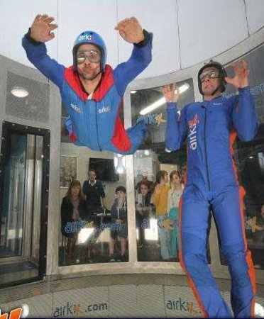 Airkix Indoor Skydiving Basingstoke: I may look terrified but that pure concentration :)