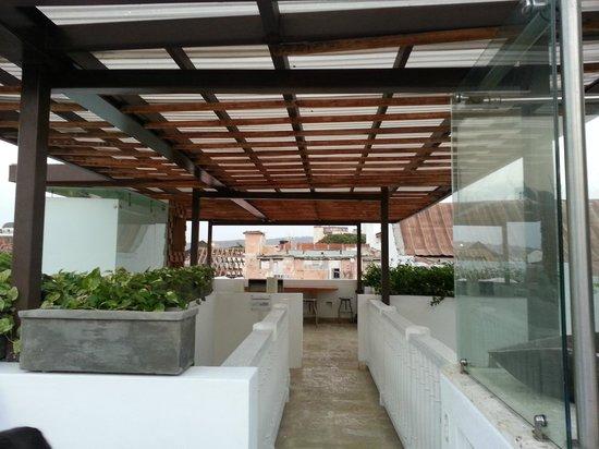 Hotel Santo Toribio: Terraza