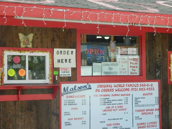 G-Daddy's Real Barbeque: The front of Malson's BBQ