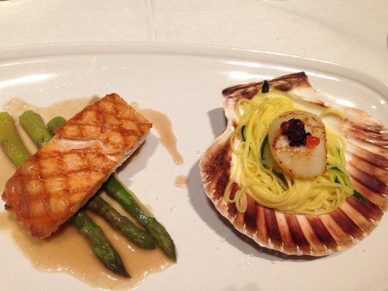 Verres en Vers: Scallop & salmon duo