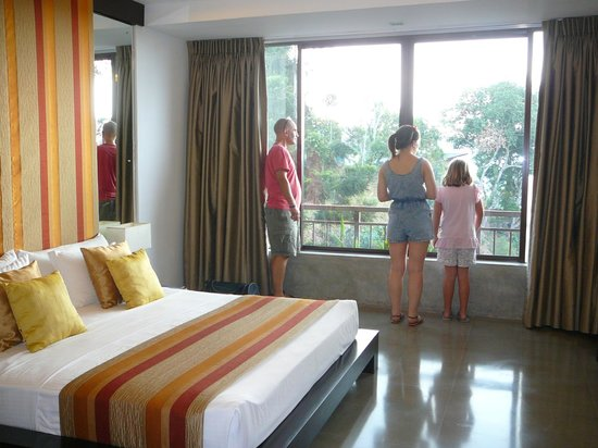 Tourmaline Hotel: family suite, bedroom, enjoying the view