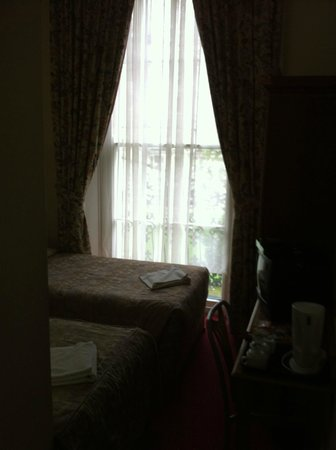 Pembridge Palace Hotel: Room and window