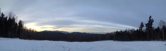 Snowmobile Vermont at Killington: view from our pit stop