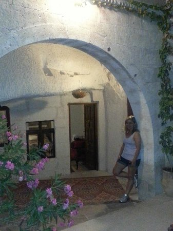 Local Cave House: Na frente da minha suite