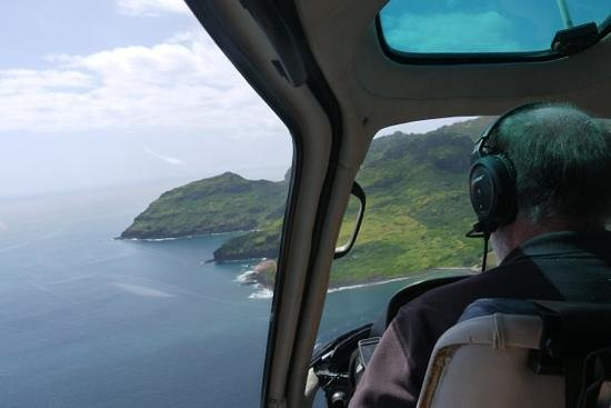 Island Helicopters Kauai: view from back seat