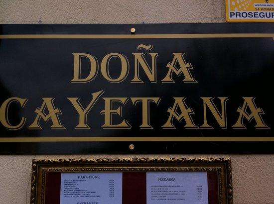 Restaurante Casa de Comidas Doña Cayetana: CASA DOÑA CAYETANA