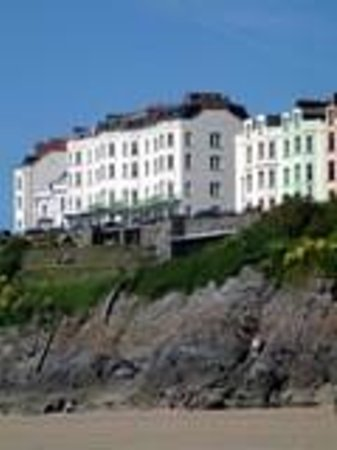 The Clarence House Hotel: View from beach
