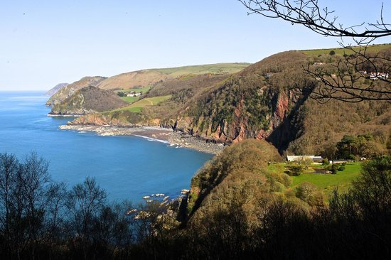 The Old Rectory Hotel : The Coast line looking toward Woody Bay