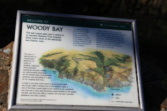 The Old Rectory Hotel: Woody Bay Map and History
