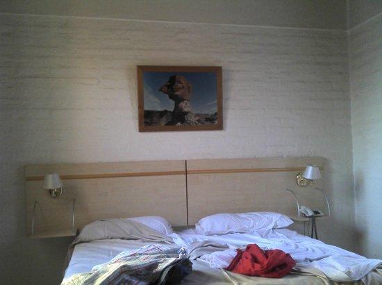 Alkristal Hotel-Apart: Cama y cuadro