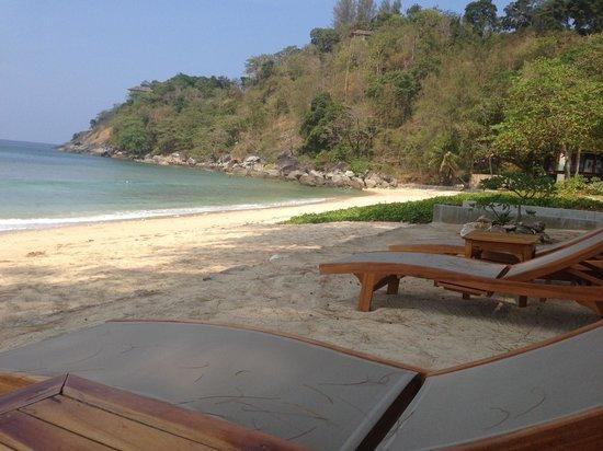 The Naka Phuket: Private beach