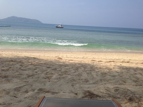 The Naka Phuket: View from under a tree at the private beach