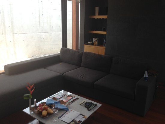 The Naka Phuket: Large couch in living area