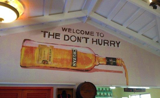 Cruzan Rum Distillery: The don't hurry