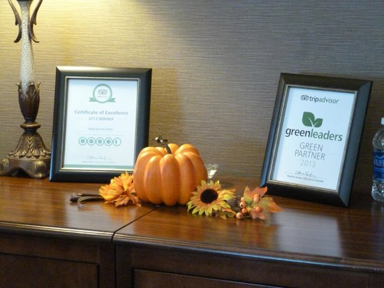 Sleep Inn and Suites: Recepcion del hotel halloween