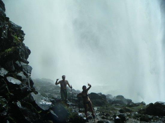 Hike Kauai With Me : Righ behind the Wailua Falls