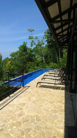 TikiVillas Rainforest Lodge: Pool/lounge area