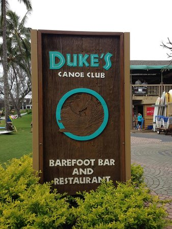 Duke's is right at Kalapaki Beach