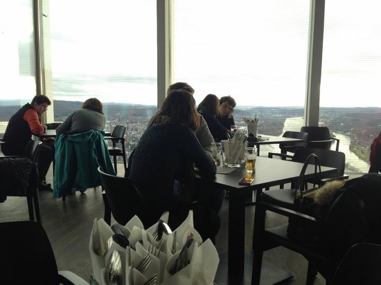 Drachenfels : The interior of the restaurant. Glass windows on every side allow for a great view!