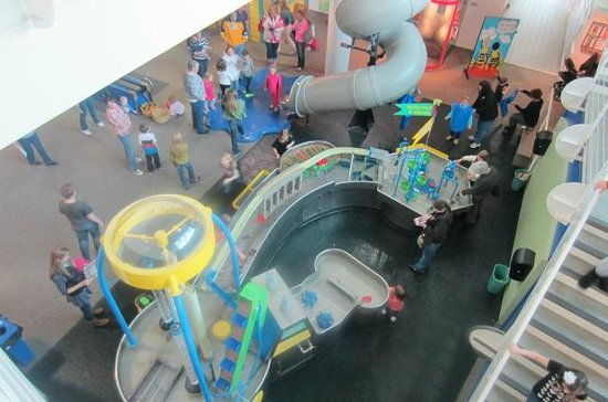 Discovery Center: Top view of the Water Works