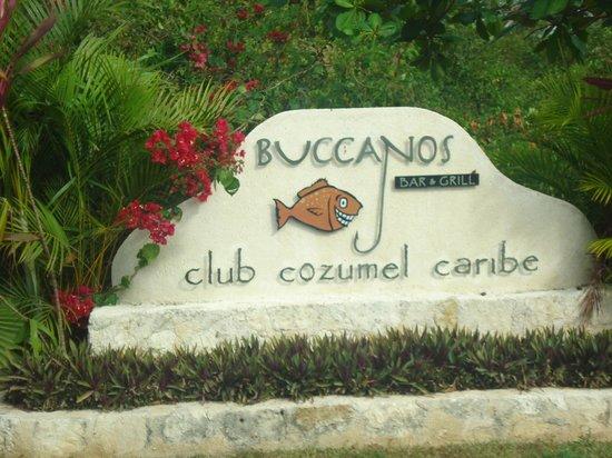 Buccanos Grill & Beach Club Cozumel: Entrance
