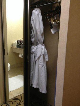 Omni Charlotte Hotel: closet/robes