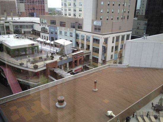 Omni Charlotte Hotel: view of epicenter from room (7th floor)