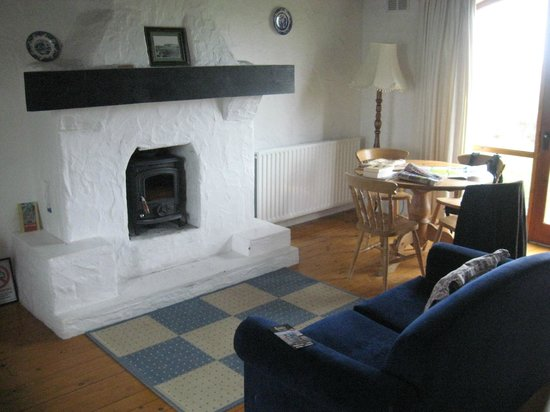 Ballylinny Holiday Cottages: Look at that fire!