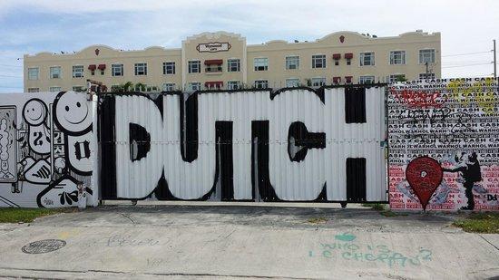 Wynwood: Bereits übermaltes Graffiti...Schade.