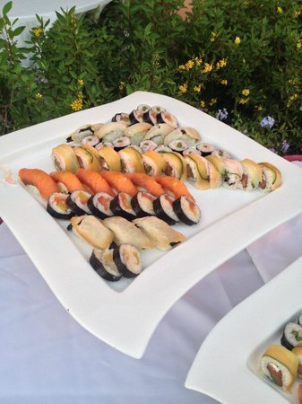 Sandals South Coast: Sushi At Beach Party
