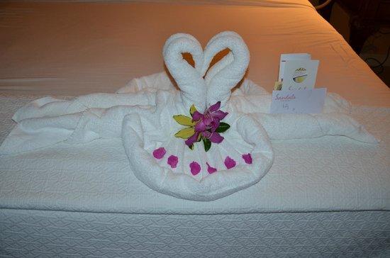 Sandals Whitehouse: Towel Art