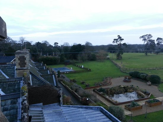 Park House Hotel : View over looking the sensory garden and outdoor pool.