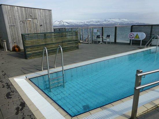 Laugarvatn Fontana Geothermal Baths: 32 degree pool with panoramic view